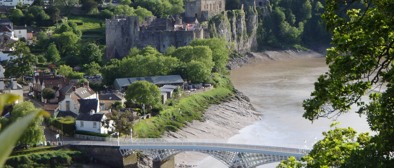Chepstow en de rivier Wye