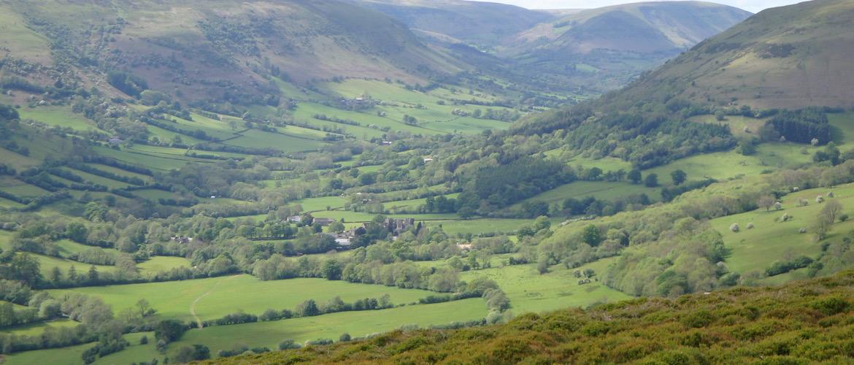 Llanthony in de Vale of Ewyas